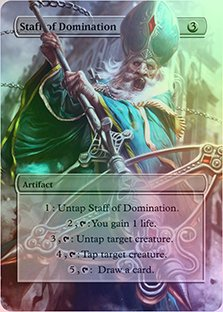 Staff Of Domination - Casual Play Only - Customs Altered Art Foil