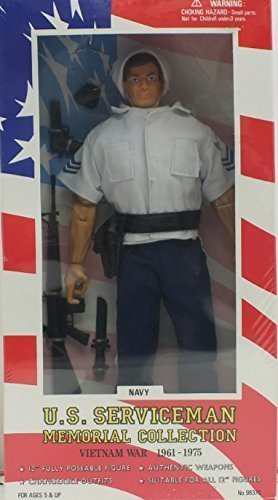 Hard To Find 1996 K-Mart Exclusive. Us Serviceman Memorial Collection Navy Petty Officer. Vietnam War 1961-1975