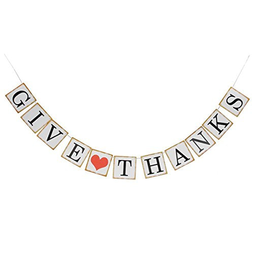 Fenical Give Thanks Bunting Banner Thanksgiving Banner Party Wedding Banners Decoration