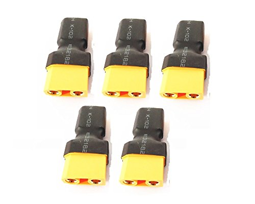 Wst No Wires Connector Xt60 Xt-60 Male To Xt90 Xt-90 Female Conversion Adapter For Rc Lipo Battery X 5 Pcs