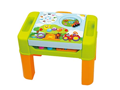 Powertrc Kids Learning Activity Game Table, 6 In 1 Activity Center