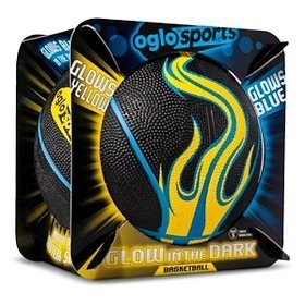 Oglo Sports - Glows Yellow Glows Blue - Glow In The Dark Basketball
