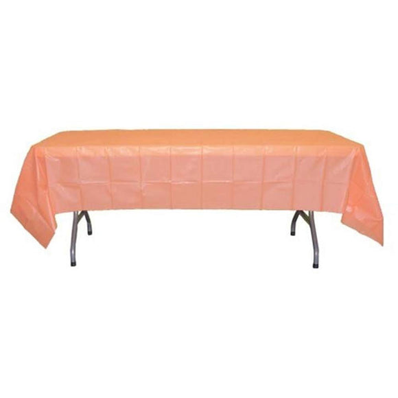 Peach Plastic Table Cover