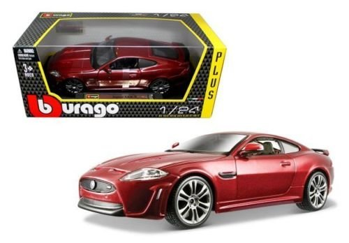 New 1:24 W/B Bburago Plus Collection - Red Jaguar Xkr-S Diecast Model Car By Bburago