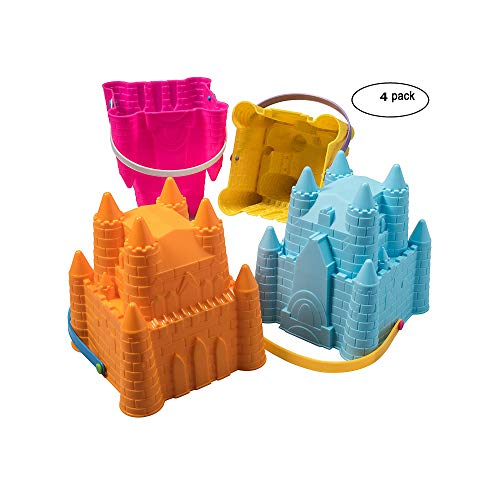 Top Race Sand Castle Pail Buckets, Beach Pails, Sand Mold Pails, 8  Inch