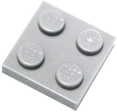 Lego Parts And Pieces: Dark Gray (Dark Stone Grey) 2X2 Plate X50