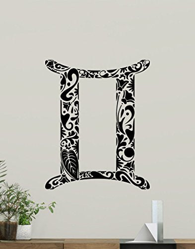 Gemini Wall Decal Astrology Horoscope Gemini Zodiac Sign Vinyl Sticker Cool Wall Art Design Wall Decor Housewares Kids Boy Girl Room Bedroom Decor Removable Wall Mural 13Hor