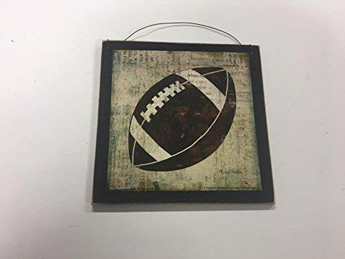 Football Sports Wall Art Sign Boys Bedroom Decor Decorations