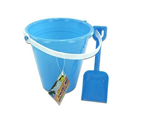 Bulk Buys Solid Colored Beach Pail With Shovel (Set Of 36)