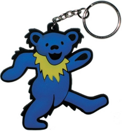 Licenses Products Grateful Dead Blue Bear Rubber Keychain