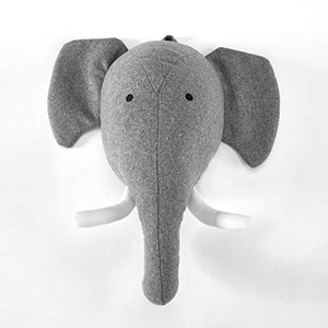 Elephant Stuffed Animal Wall Mount