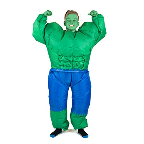 Bodysocks Kids Inflatable Hulk Fancy Dress Costume