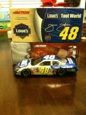 2004 Jimmie Johnson #48 Team Lowes Racing Lowes Tool World 1/24 Diecast Hood Opens Trunk Opens Hoto Limited Edition Action Racing Collectables Arc Only 2916 Made