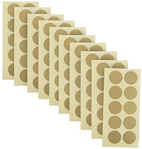 Of 1 Inch Gold Scratch Off Stickers. The Decals Are Perfect For Any Personalized Paper Projects Such As Diy Baby Gender Reveal Cards, Bridal Showers, Kid Charts, Announcements (Gold)