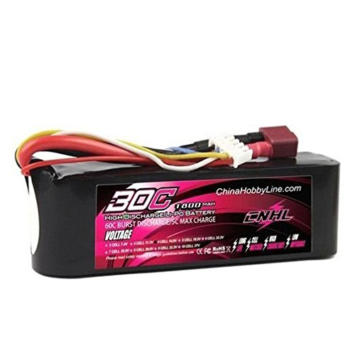 Cnhl G+Plus Li-Po 1800Mah 14.8V 4S 30C(Max 60C) Lipo Battery Pack With T-Connector Plug For Rc Boat Heli Airplane Uav Drone Fpv Training