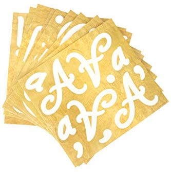 Renewing Minds Glimmer Of Gold Formal Flair Easy Letters, 4 Inches, White With Gold Trim, 216 Pieces