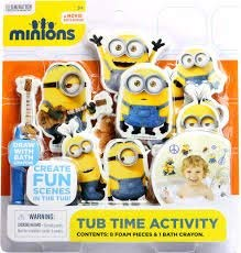 Despicable Me 3 Tub Time Activity With 8 Foam Pieces & 1 Bath Crayon