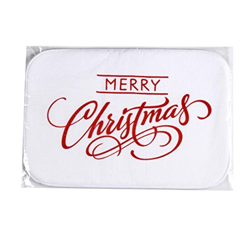 Efaster(Tm) Holiday Welcome Mat Outdoor Indoor Festive Christmas Decor Doormat