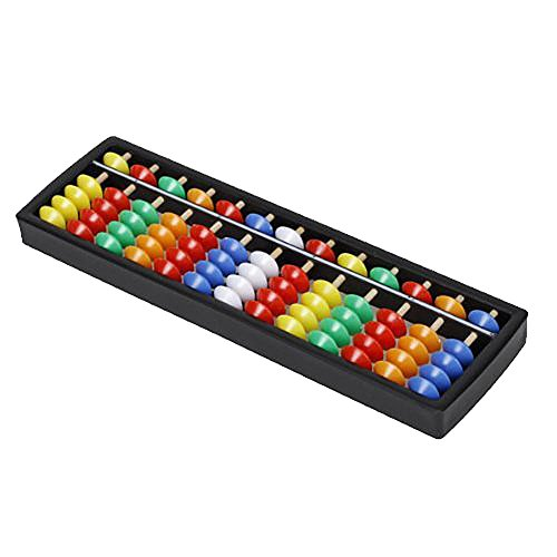 Happy Will Lightweight Plastic Abacus Arithmetic Soroban Colorful Beads Calculating Tool For Kids With Stylus