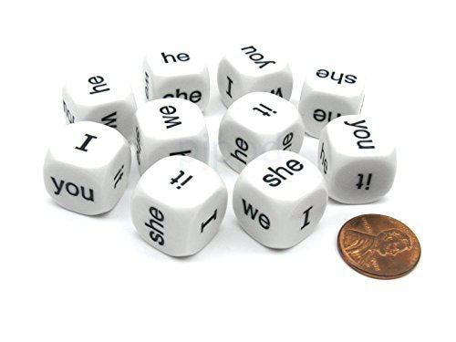 Pronouns Dice Set Of 10