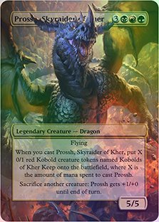 Prossh, Skyraider Of Kher - Casual Play Only - Customs Altered Art Foil