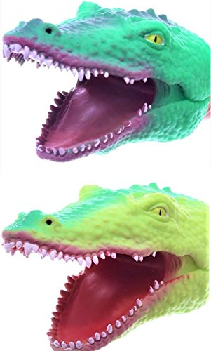 S.S. - Soft Rubber Realistic 6 Inch Alligator Hand Puppet (Dark Green And Light Green)
