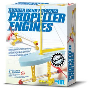 Rubber Band Powered Propeller Engines