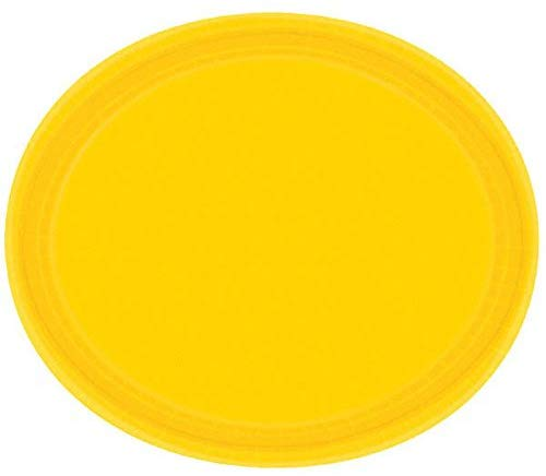 Amscan 690000.09 Oval Plate Yellow 12