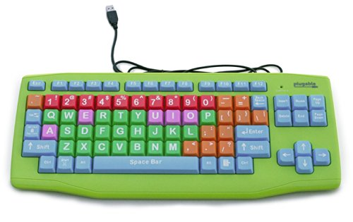 Plugable Usb Kids Keyboard (Extra Large Keys - Color Coded)