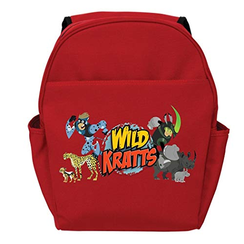 Red Wild Kratts Creature Adventure Toddler Kids Backpack 14  Character Polyester