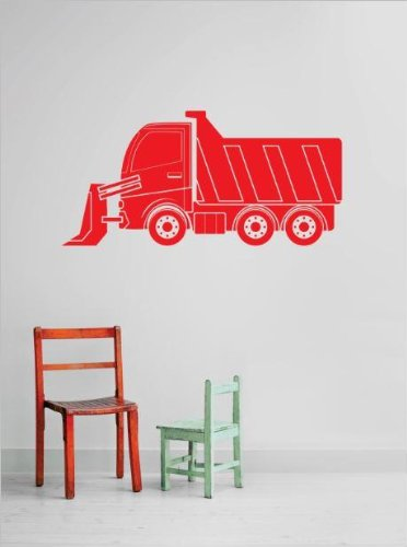 Top Selling Decals - Prices Reduced : Tractor Dump Truck Demolish Demolition Construction Operation Equipment Kids Boys Tools Bedroom Bathroom Living Room Picture Art Mural Size : 10 Inches X 20 Inches - Vinyl Wall Sticker - 22 Colors Available