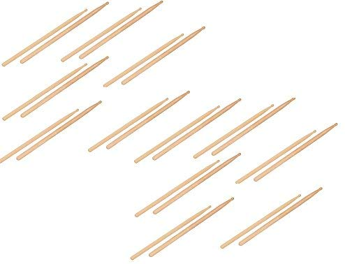 Brick Of 12 Pairs Maple Wood Drum Sticks 5B (L16In)