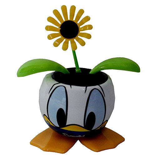 Panda Expressions Solar Dancing Flower In Donald Duck Pot