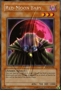 2002 Pharaoh'S Servant Unlimited Psv-90 Red-Moon Baby (R) / Single Yugioh! Card In Protective Sleeve By Upper Deck