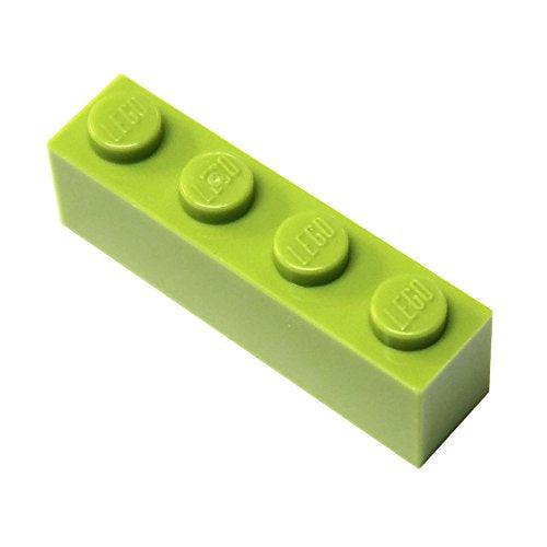 Lego Parts And Pieces: Lime (Bright Yellowish Green) 1X4 Brick X50
