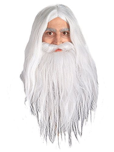 Lord Of The Rings Gandalf Beard And Wig Set For Adults