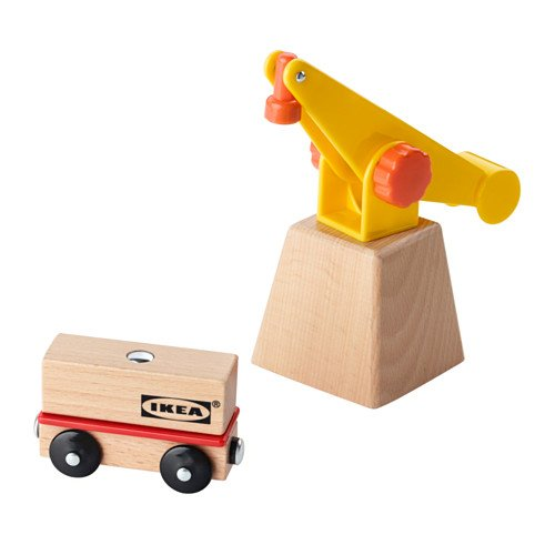 3-Piece Crane And Wagon Set Lillabo By Ikea