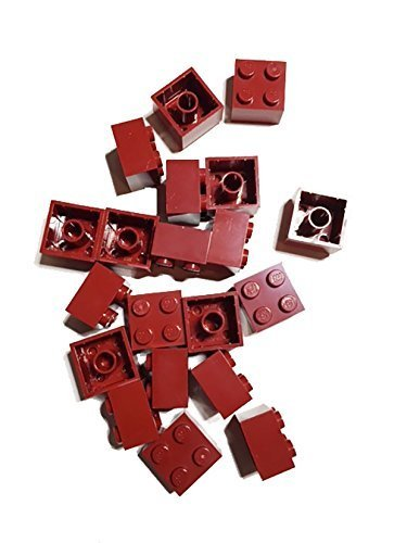 Lego 2X2 Bricks, Dark Red, 20 Count
