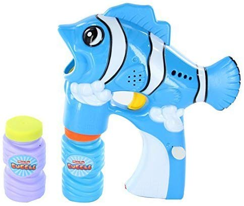 Lilpals Solid Blue Bubble Gun Shooter  Fely The Fish Blaster, With Light And Sounds With Bubble Solution Included For Kids 3 & Up - Keep Your Kids Active With Tons Of Bubble Fun