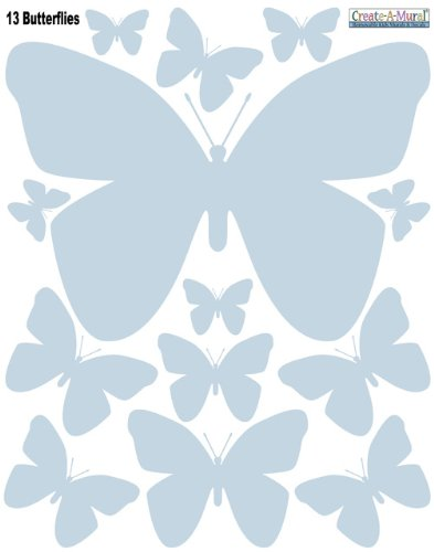 Butterfly Wall Appliques' Baby Blue Removable Decals **Special Price