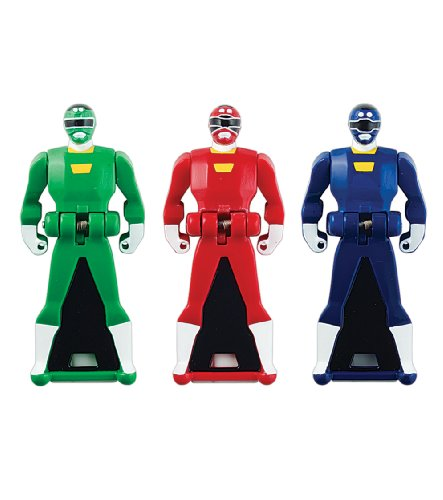 Power Rangers Super Megaforce - Turbo Legendary Ranger Key Pack, Red/Blue/Green