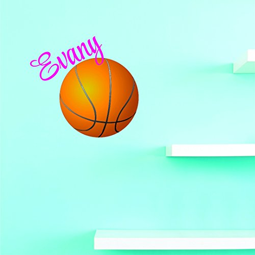 Personalized Custom Name Basketball Sports Girl Kids Vinyl Wall Decal Sticker 20 Inches X 20 Inches