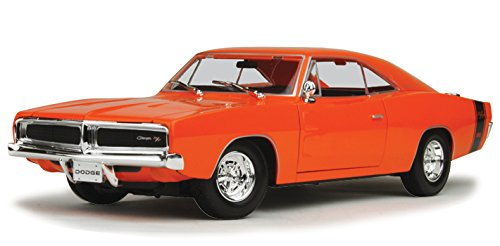 1969 Dodge Charger R/T Orange 1/18 Diecast Model Car By Maisto 31387