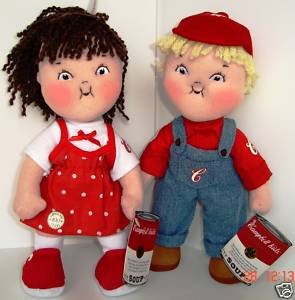 Campbells Soup Kids Limited Edition Collectible Plush Dolls (2004)