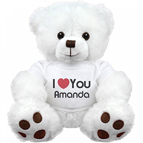 I Heart You Amanda Love: Medium Plush Teddy Bear