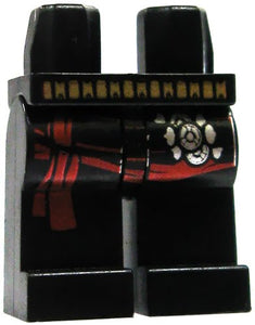 Lego Loose Legs Black With Gold Belt & Red Sash