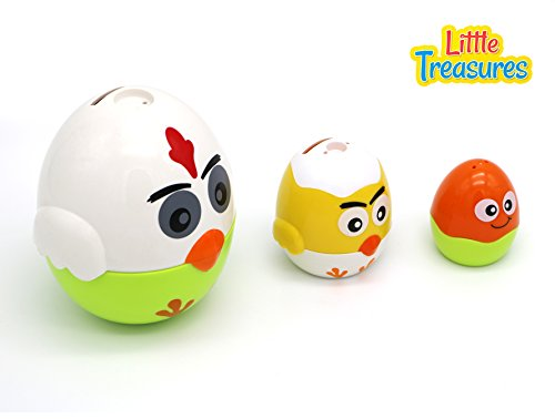 Little Treasures Egg Shaped Storage Toy - Teaches Shapes, Colors And More!