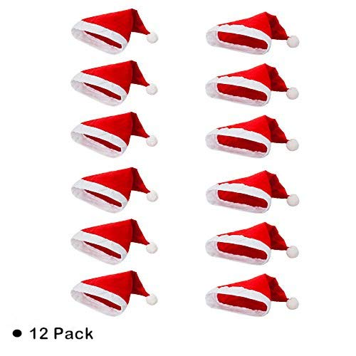 Non-Woven Cloth Santa Hat-Christmas Classic Hat For Adult (Red &Amp; White)
