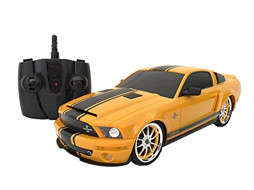 1:18 Licensed Shelby Mustang Gt500 Super Snake Electric Rtr Remote Control Rc Car (Yellow)