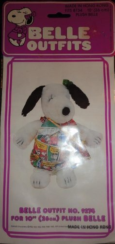 Rare! Peanuts Snoopy Sister Belle'S Wardrobe 10  Plush Belle - Comic Strip Bubble Overalls Outfit